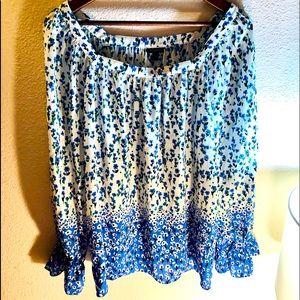 Talbots NWT floral blouse Sz large